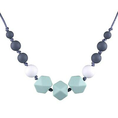 tuxepoc Silicone Teething Necklace for Mom to Wear,Nursing Necklace Baby Teet...