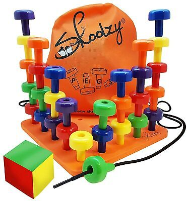Skoolzy Peg Board Set - Montessori Toys for Toddlers and Preschool Kids | 30 ...