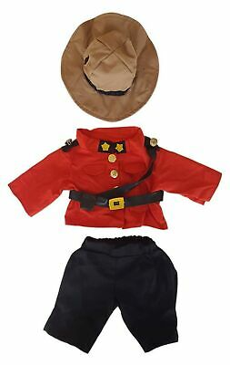 "Royal Canadian Mountie Outfit Fits Most 14"" - 18"" Build-a-bear, Vermont Teddy..."