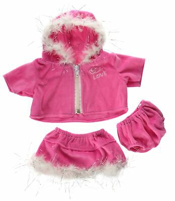 "Pink ""Love"" Dress Teddy Bear Clothes Outfit Fits Most 14"" - 18"" Build-a-bear,..."