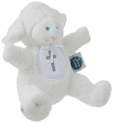 Mary Meyer Christening Plush Rattle, Lamb Christening Rattle