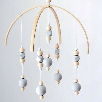UNIE Bed Bell for Baby, Wooden Wind Chime Bell Hanging Baby Toys for Rattle T...