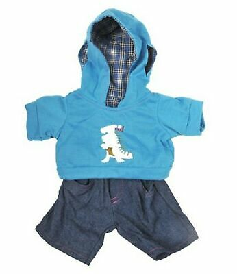 """Dinosaur"" Hoodie w/Jeans Teddy Bear Clothes Outfit Fits Most 14"" - 18"" Build..."