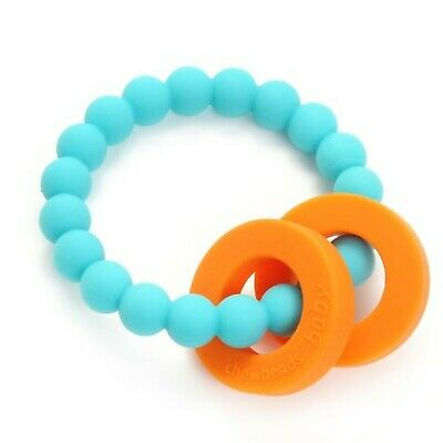 Chewbeads Mulberry Baby Teether, Turquoise