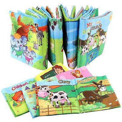 Xiaoyu Baby Cloth Books, Baby First Book, Non-Toxic Fabric Colorful Children ...