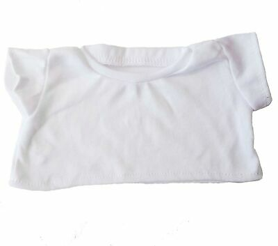 "White Basic Tee Shirt Teddy Bear Clothes Fit 14"" - 18"" Build-a-bear, Vermont ..."