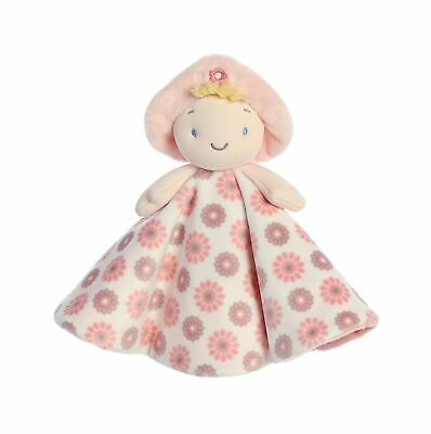 """EBBA First Doll Bella Plush Luvster Baby Blanket 13"""" Blonde"""