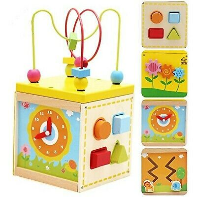 Frealm 5 in 1 Educational Toy Multifunctional Wooden Activity Center with Bea...