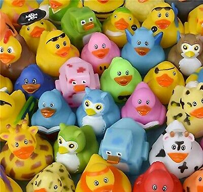 Lot of 50 Assorted Rubber Ducks [Toy] 50-Pack