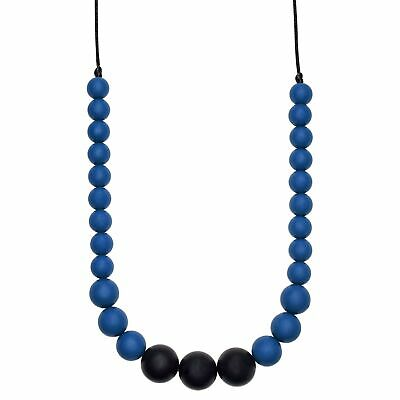 Munchables Silicone Teething Necklace - Cutie Pie (Navy)