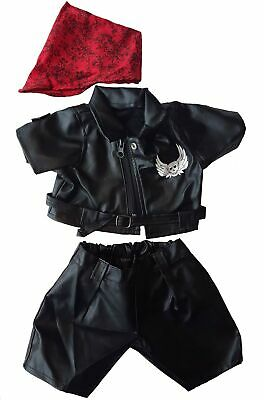 "Easy Rider Biker Outfit Teddy Bear Clothes Fit 14"" - 18"" Build-a-bear, Vermon..."