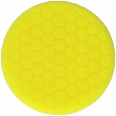 """Chemical Guys BUFX_101HEX 7.5""""""""SELF Center HEX-Logic PAD Yellow Cutting Pad"""