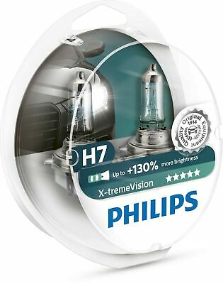 Philips Xtreme Vision +130% More Light H7 Headlight Bulbs (Twin Pack of Bulbs)