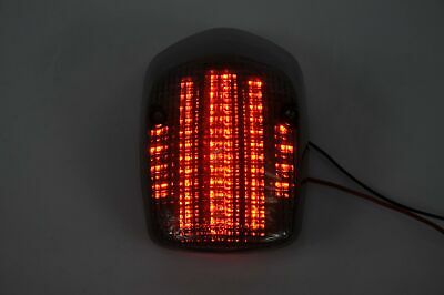 Topzone Lighting Clear Lens Motorcycle Led Taillights Brake Tail Light with I...