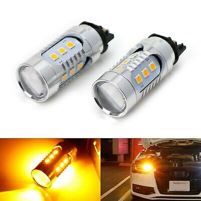 iJDMTOY (2) Amber Yellow CAN-bus PWY24W LED Bulbs Compatible With Audi A3 A4 ...