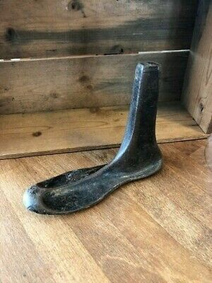 Vintage Heavy Cast Iron Shoe Last / Form – Door Stop – Great!