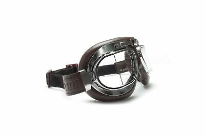 Motorcycle Vintage Goggles with Antifog and Anticrash Classic Squared Lens - ...