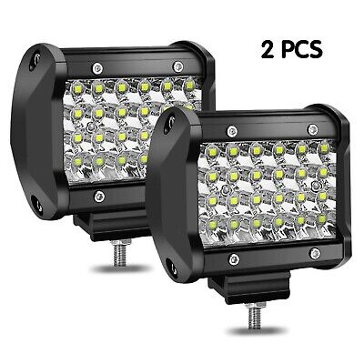 BAOLICY 4inch LED Light Bar Pods Driving Work Lights Quad Row Spot Beam Offro...