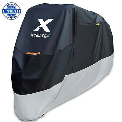 XYZCTEM Motorcycle Cover - All Season Black Waterproof Outdoor Protection - F...