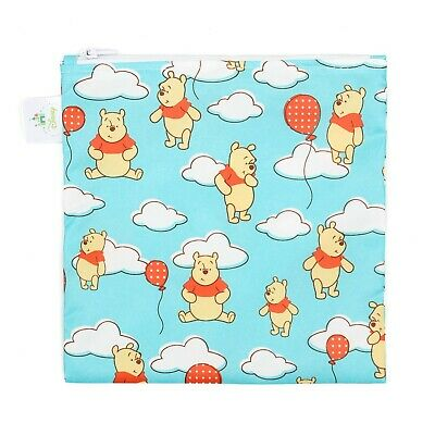 Bumkins Disney Baby Reusable Snack and Sandwich Bag, Winnie the Pooh Balloons...