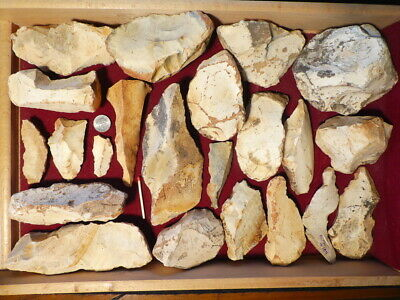 Collection Of Large Neanderthal Artifacts Flint Stone Age Paleolithic Mousterian