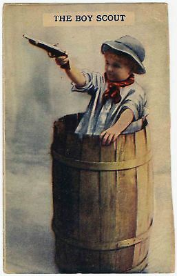 The Boy Scout - Vintage Postcard 1912