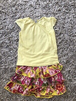 Zara And Next Girls Summer Outfit Skirt And Top Age 7-8 Years Immaculate
