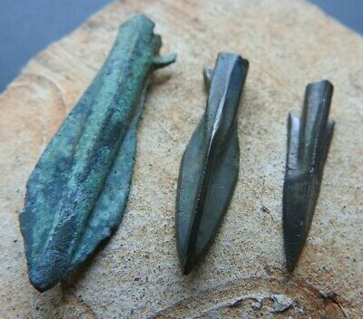 Three arrowheads of the Scythians of the early Iron Age of the 6-2 centuries BC