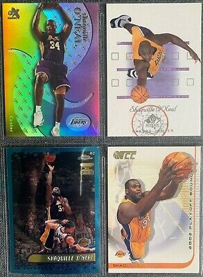 Shaquille O'Neal (Lakers) 4 Basketball-Common-Card Lot (II)