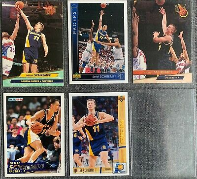 Detlef Schrempf (Pacers / Trail Blazers) 8 Basketball-Common-Card Lot