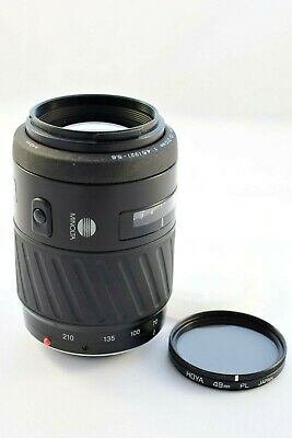 Minolta AF Zoom 70-210mm f/4.5-5.6 Lens with Hoya 49mm PL Filter      #SA1-329