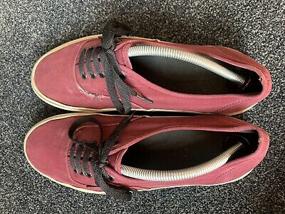 Men's Vans Burgundy Red Off the Wall Trainers Skate Shoes Size UK 10 (11 US)