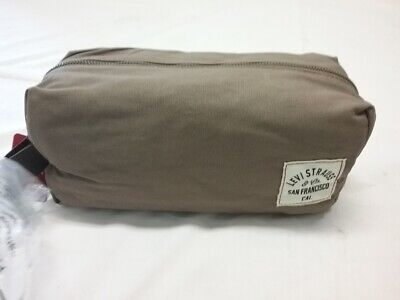 Levi Strauss & Co. Brown Canvas Travel Kit Toiletry Bag 2016 New