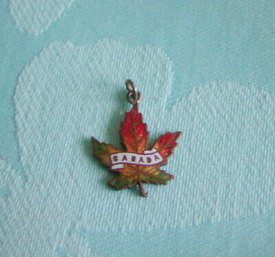 Maple Leaf Enameled Canada Charm