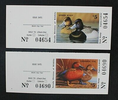 CKStamps: US State Duck Stamps Collection Nevada (2) Mint NH