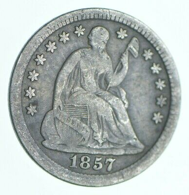 1857 Seated Liberty Half Dime - Charles Coin Collection *466
