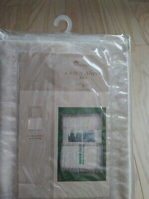 "New Stylemaster Linen Sheer Tiers. 72""×24"". 1 Pair"
