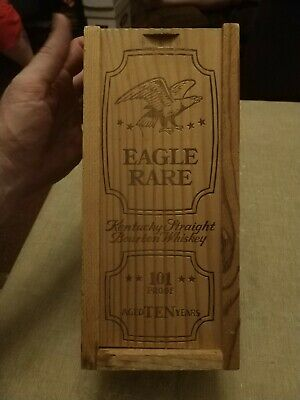 Eagle Rare Kentucky Straight Bourbon Whiskey ~ Wooden Box - Printed On All Sides