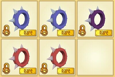 Animal Jam Short Spiked Collar Bundle In Game Item
