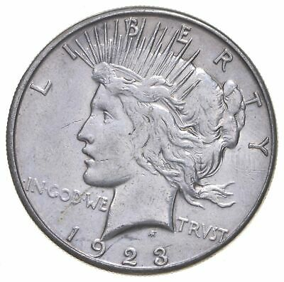 Early - 1923-S - Peace Silver Dollar - 90% US Coin *444