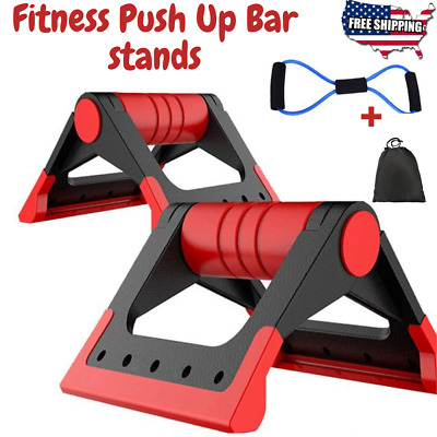 Fitness Push up Bar Stands Press Handle Non-Slip Exercise Training Workout Home