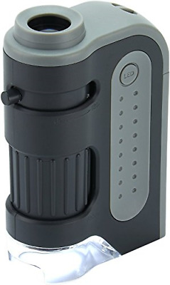 Carson MicroBrite Plus 60x-120x Power LED Lighted Pocket Microscope MM-300