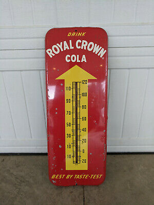 ROYAL CROWN COLA Vintage Thermometer 1953 Advertising Soda Store Sign