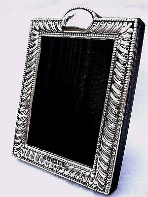 Classic Finest 999 Quality Hallmarked Silver London & Britannia Photograph Frame