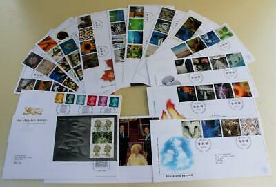 GB 2000 FIRST DAY COVER STAMPS x16 FDC COLLECTION ROYAL MAIL COMMEMORATIVE e)#14