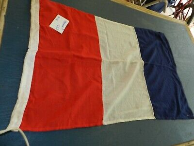 Large Ship Cloth Flag   2 X 4 Feet  Letter T  Not France Right