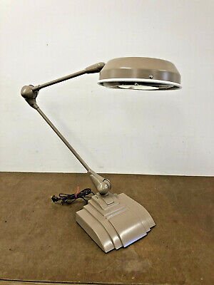 Vintage MAGNIFYING LIGHT FIXTURE Industrial drafting lamp desk jewelers FLEXO