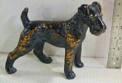 Antique TERRIER DOORSTOP or STATUE