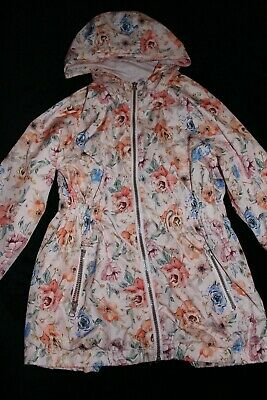 Jacket: Gorgeous pink floral  jacket by Matalan , 9 yrs