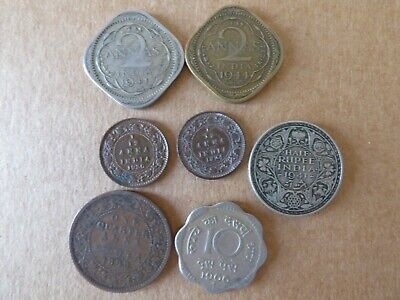 Collection of Coins from India 1899 to 1966 Victoria, George V & George VI